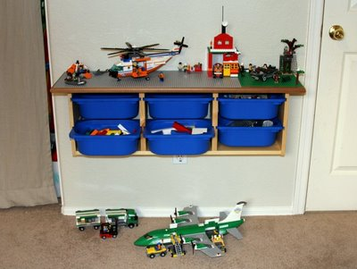 LEGO wall table (via ikeahackers)