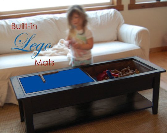 12 diy lego tables and stations for your little ones for How to make a coffee table with storage