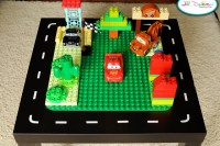 LEGO and car table