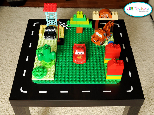 LEGO and car table (via meetthedubiens)