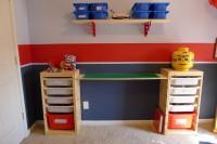 IKEA LEGO table with storage