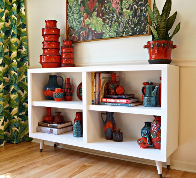 DIY Mid-Century Bookshelves From Garage Sale Ones
