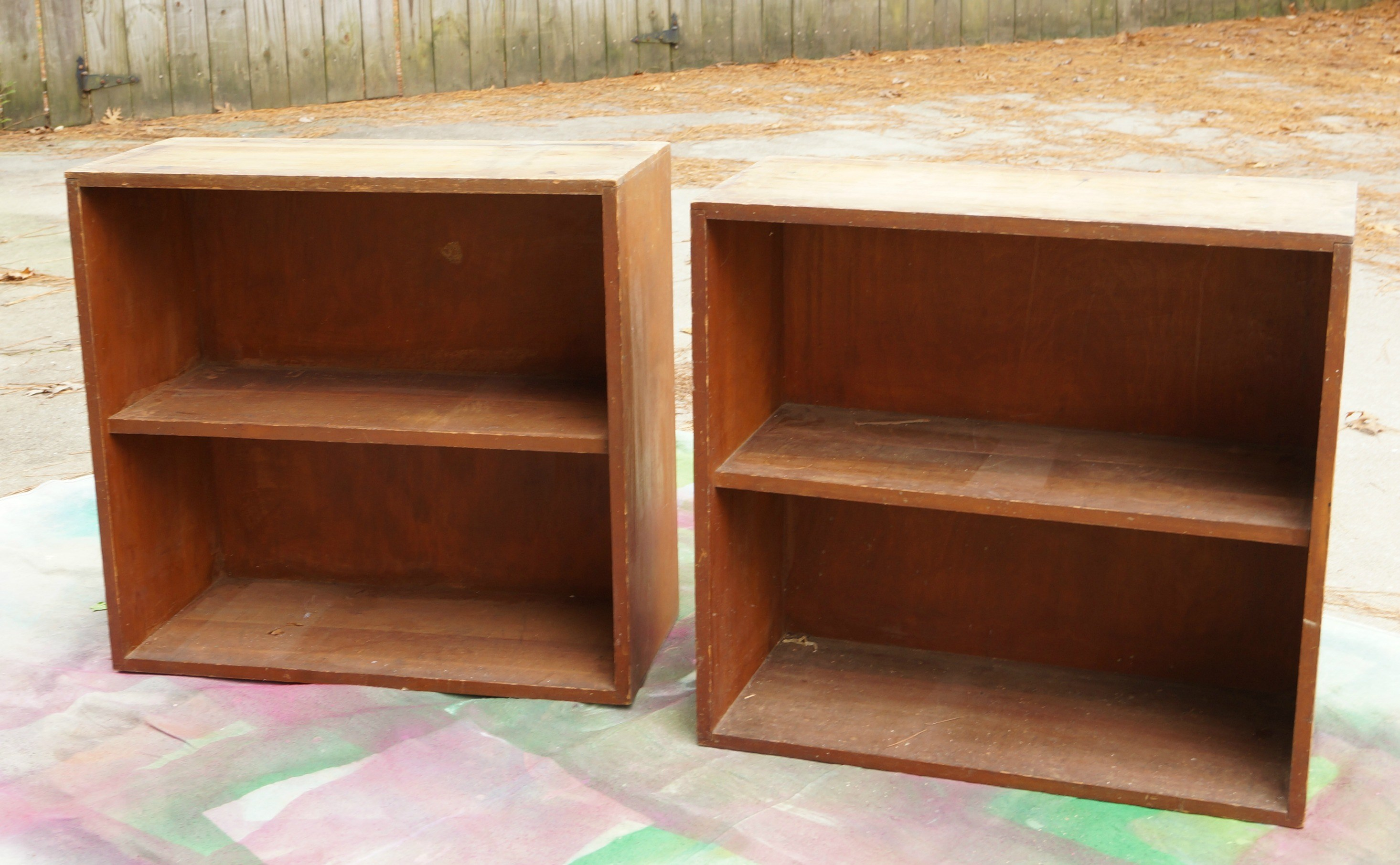 Picture Of diy mid century bookshelves from garage sale ones  2