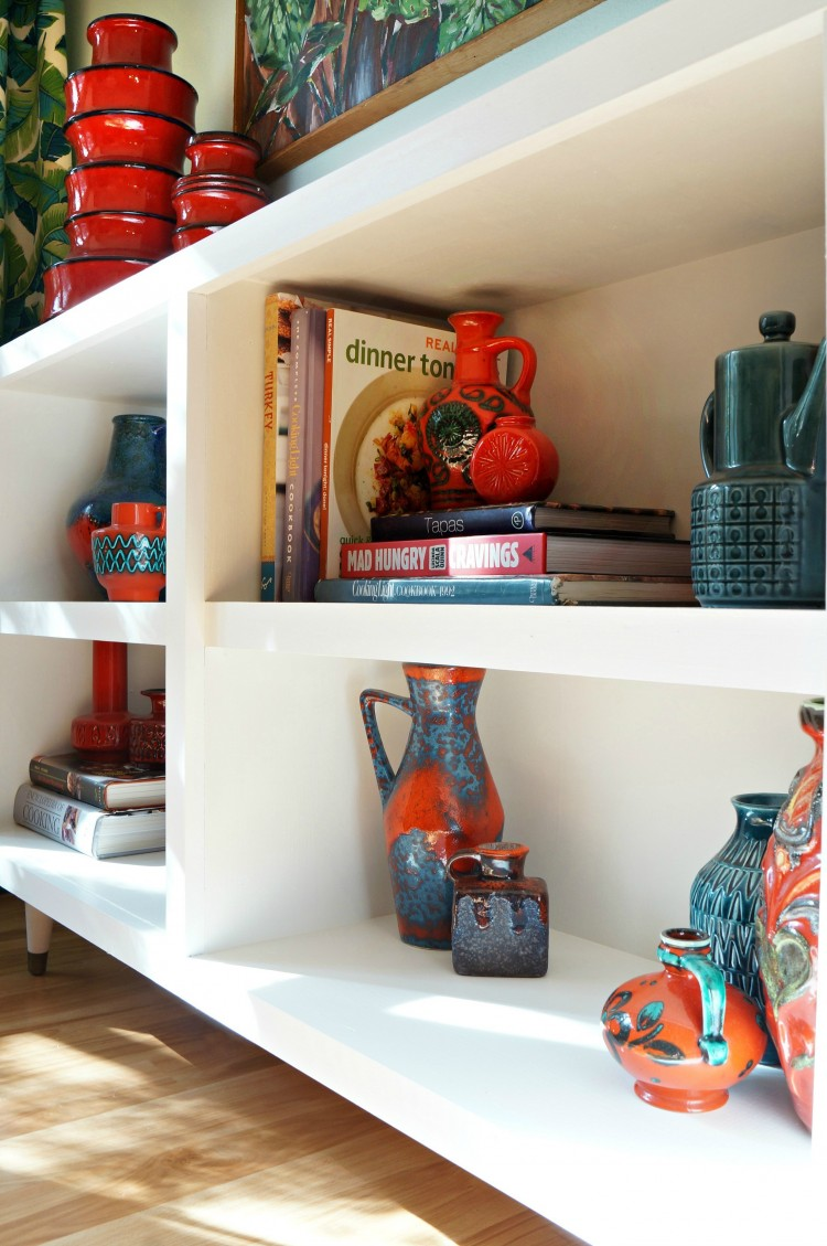 DIY Mid Century Bookshelves From Garage Sale Ones