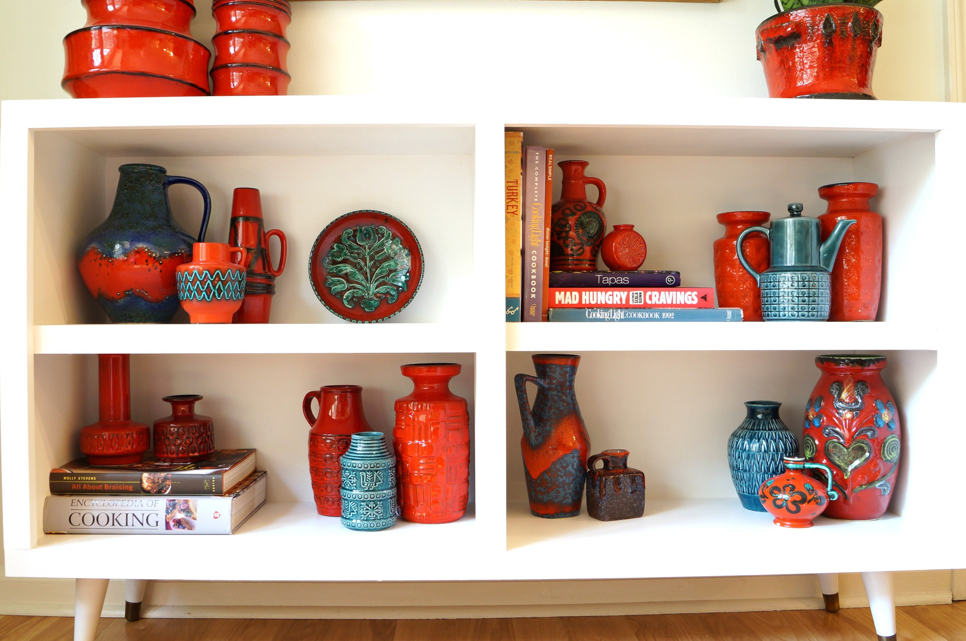 Picture Of diy mid century bookshelves from garage sale ones  4