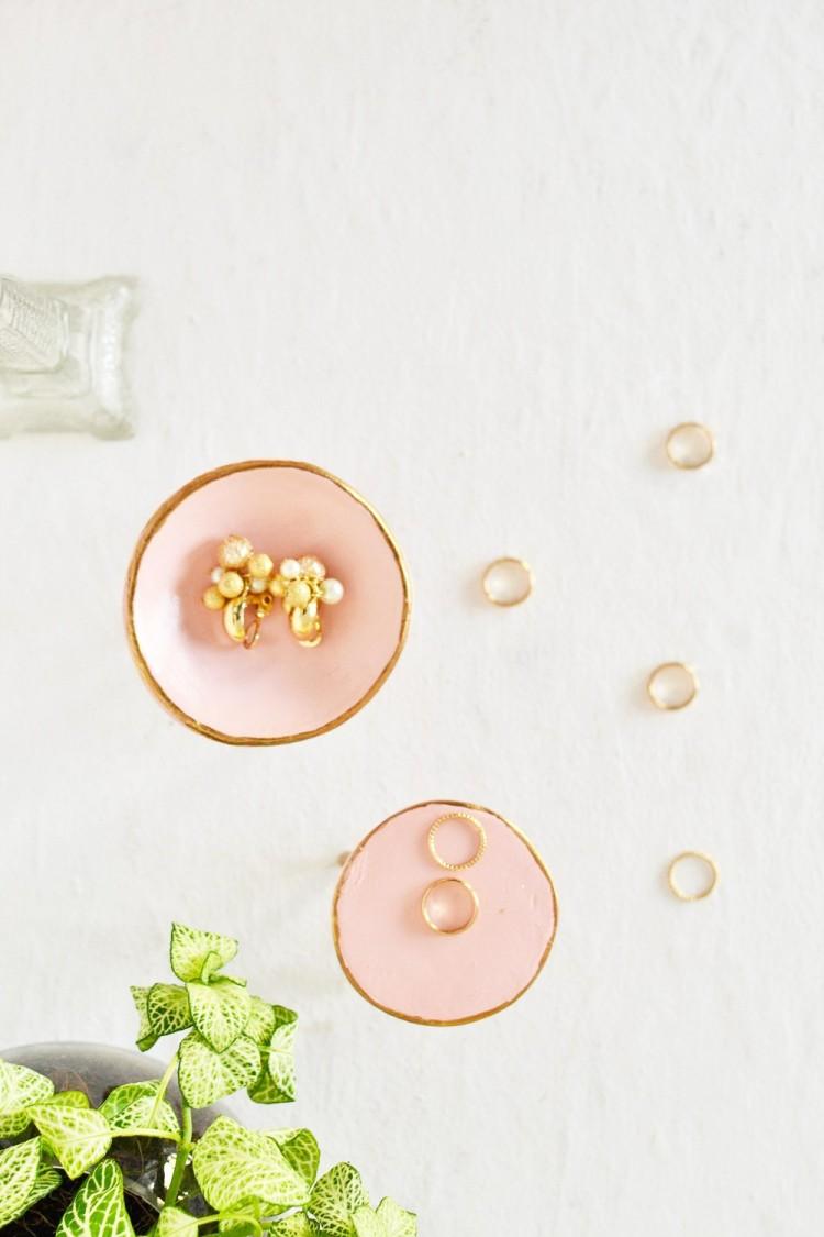 DIY Mid Century Trinket Dish In Rose Quartz
