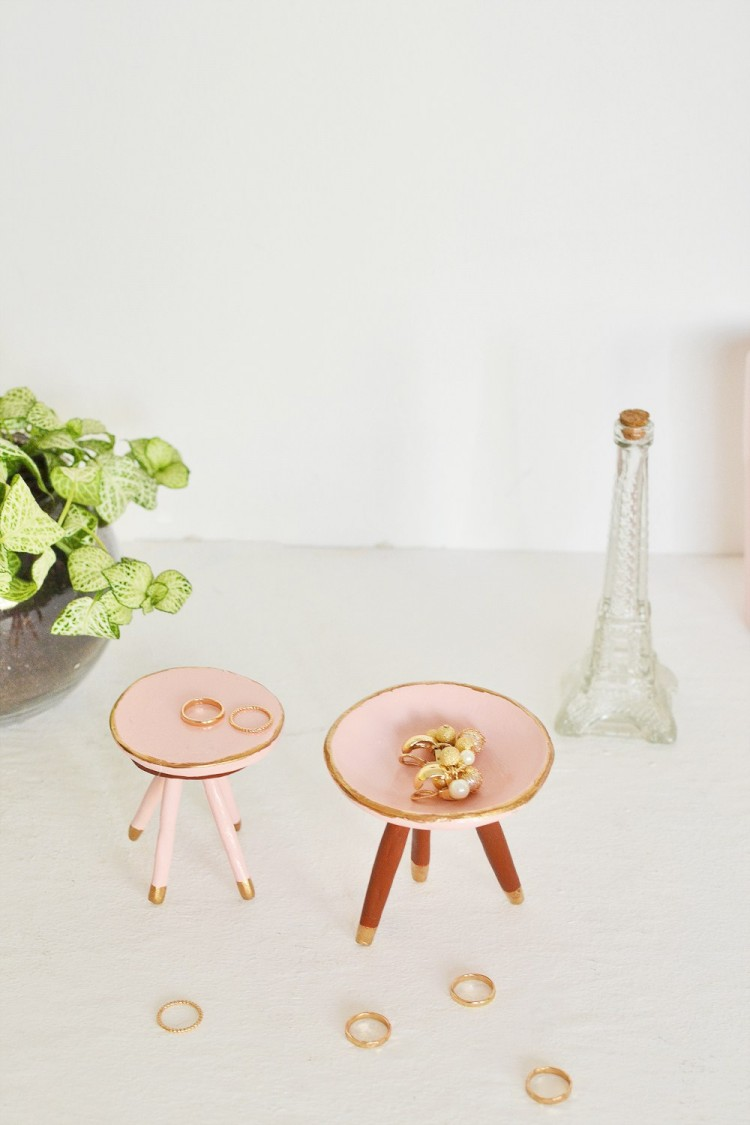 DIY Mid Century Trinket Dish In Rose Quartz Shelterness