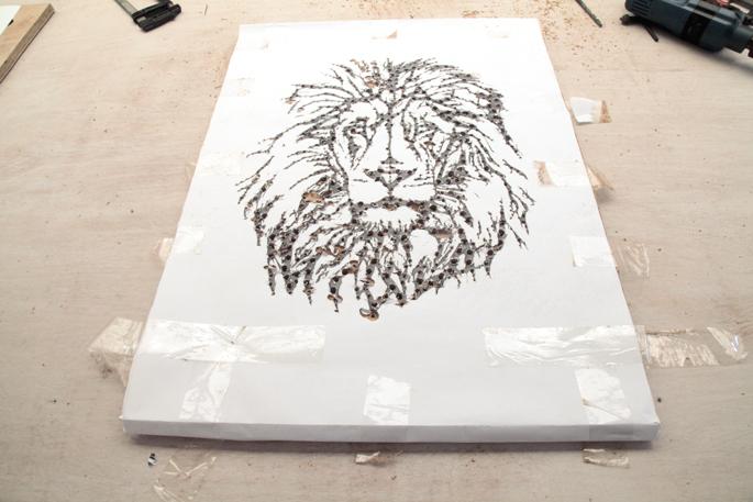 DIY Plywood Art Board Using A Drill