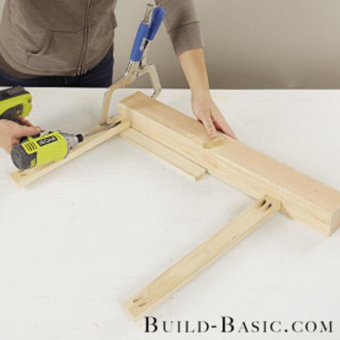 DIY Rustic Vintage Inspired Side Table