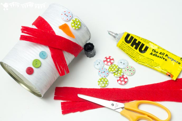DIY Tin Can Snowman For Your Little Ones