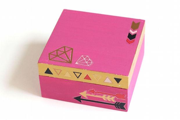 wooden trinket box via