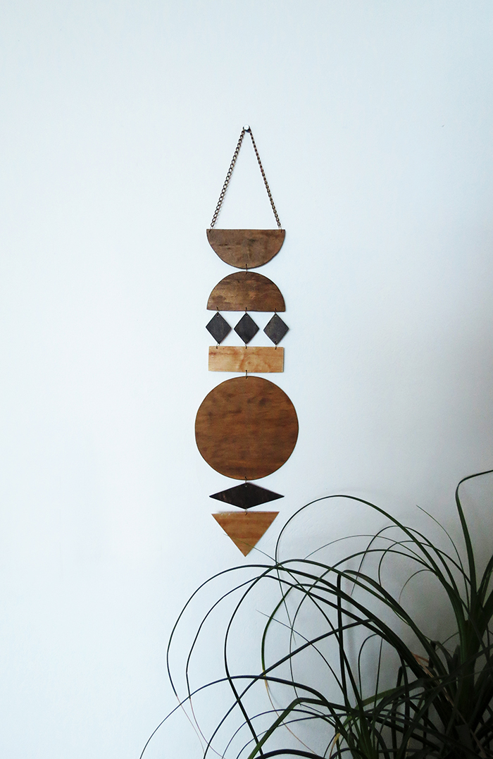 DIY Wall Art Jewelry From Stained Plywood