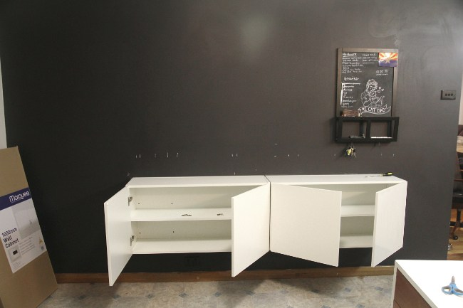 diy floating buffet using ikea metod cabinet shelterness. Black Bedroom Furniture Sets. Home Design Ideas