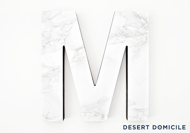 Easy And Fast DIY Marble Letter Decor