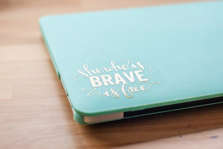 Easy DIY Laptop Decal For Personalizing