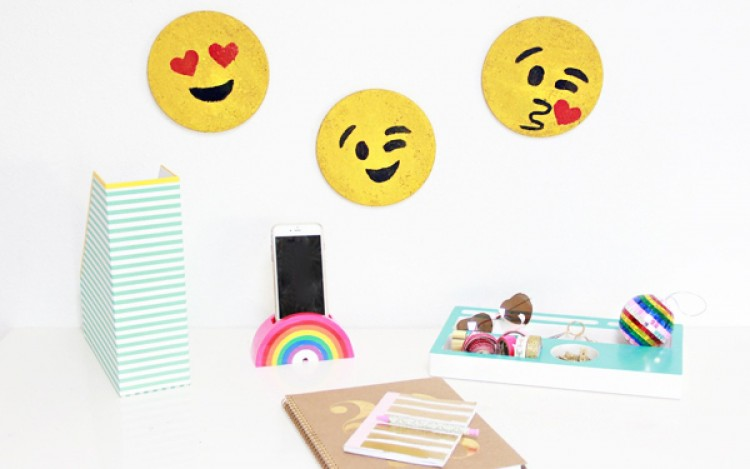 Fun And Bold DIY Emoji Cork Boards