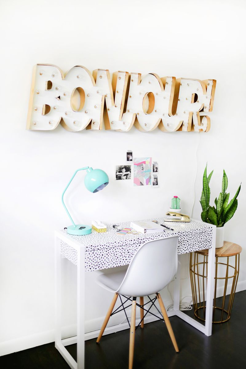 Picture Of glam diy gold metal edge marquee  2