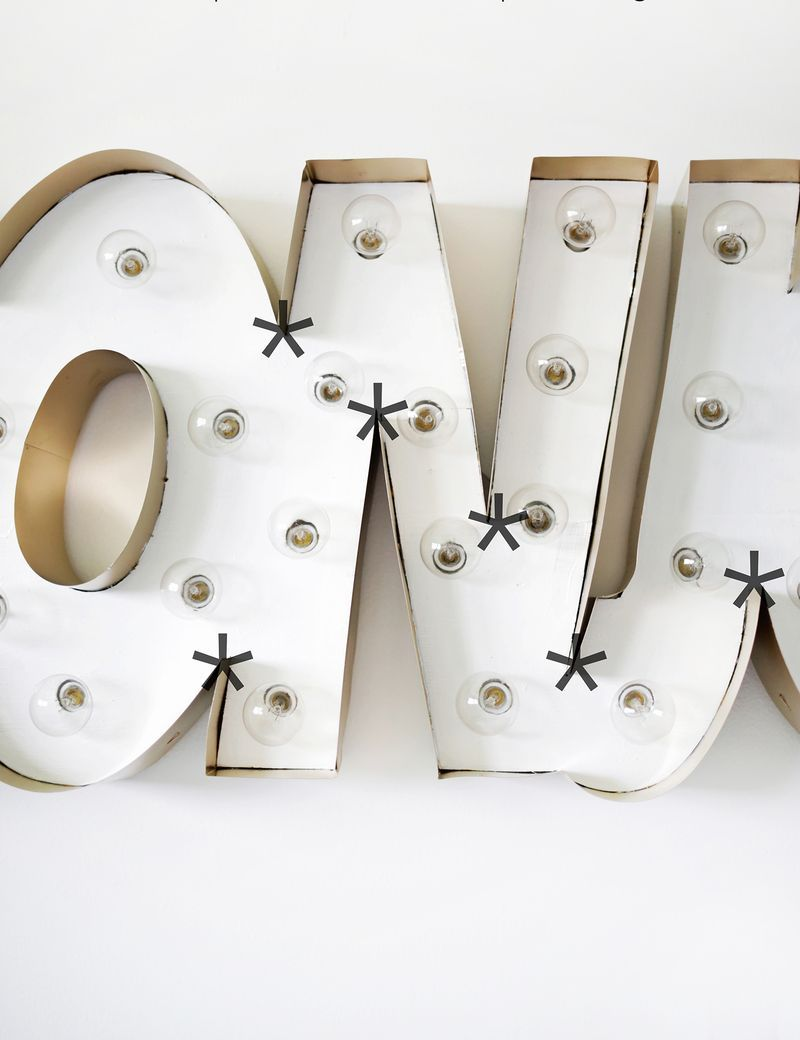 Picture Of glam diy gold metal edge marquee  5