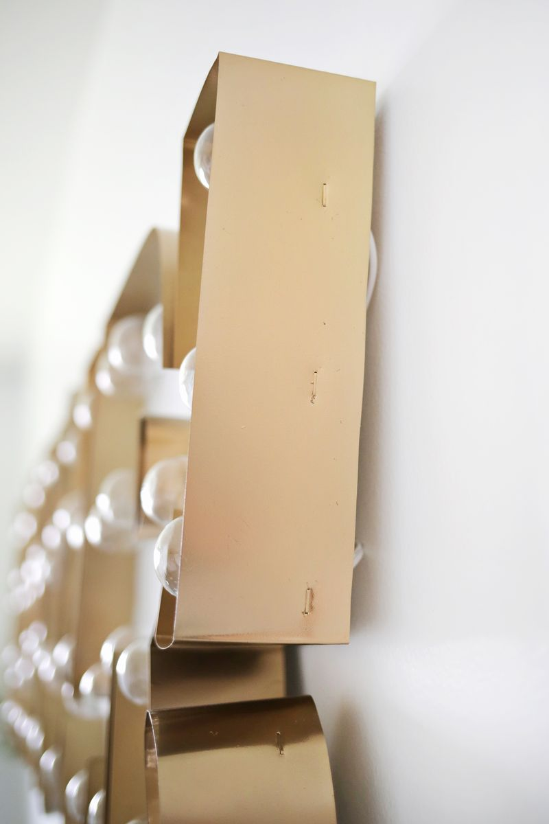 Picture Of glam diy gold metal edge marquee  6