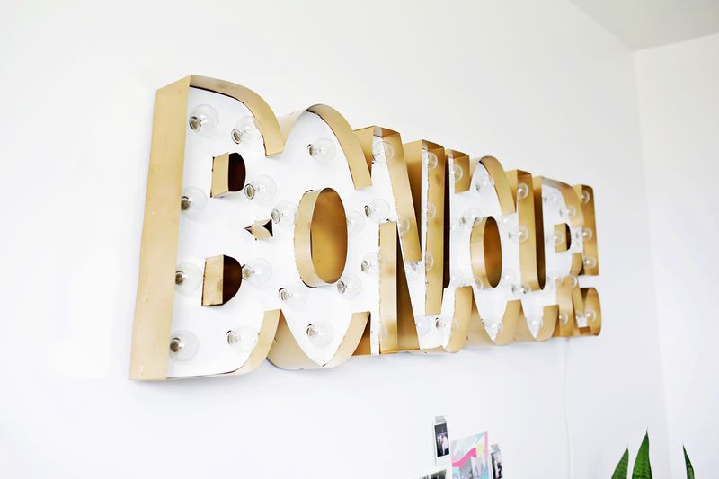 Picture Of glam diy gold metal edge marquee  9