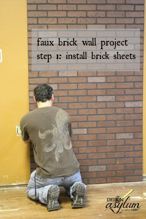 Picture Of how to make faux brick walls look old  2
