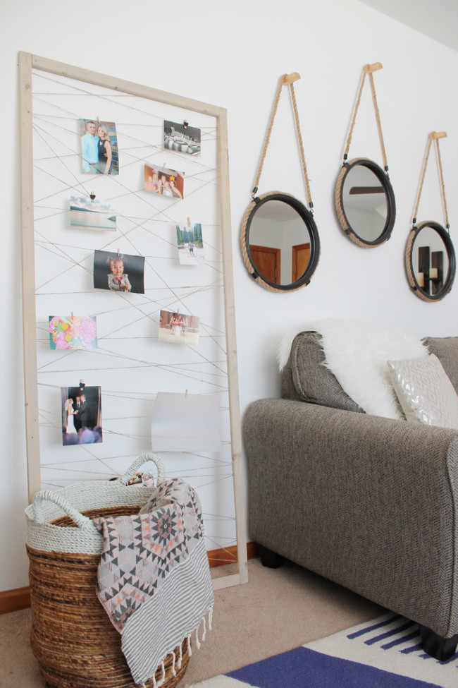 Super Easy DIY Twine Photo Display