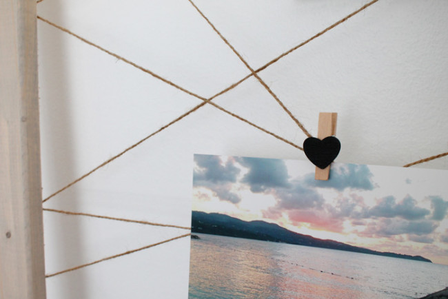Super Easy DIY Twine Photo DisplayShelterness