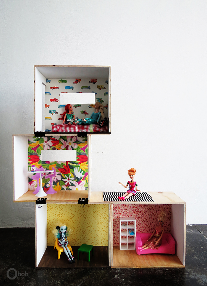 Versatile And Easy To Make Diy Barbie Dollhouse Shelterness