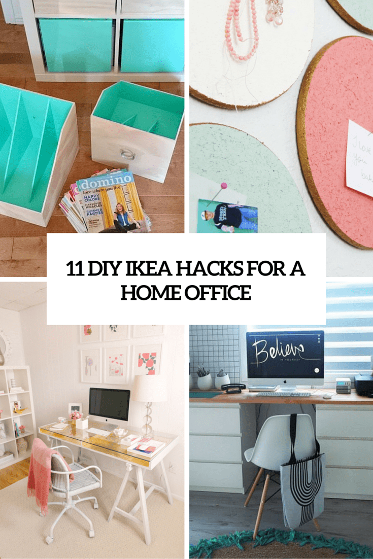 11 diy ikea hacks for a home office cover