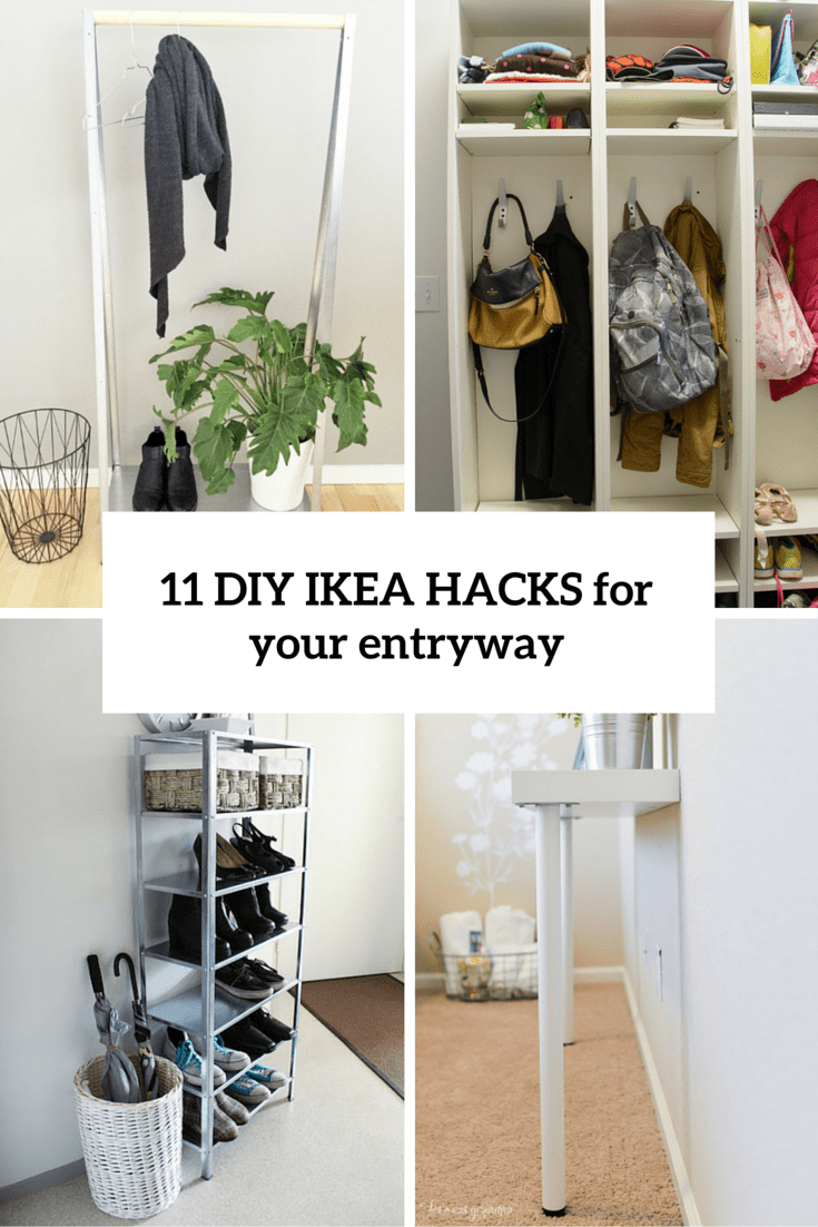 11 Cool And Clever Diy Ikea Hacks For Entryways Shelterness # Decoration Etagere Malm