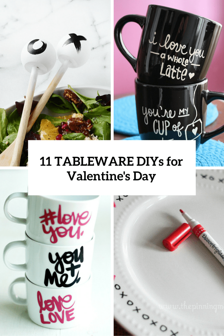 11 DIY Tableware And Utensils Projects For Valentine's Day