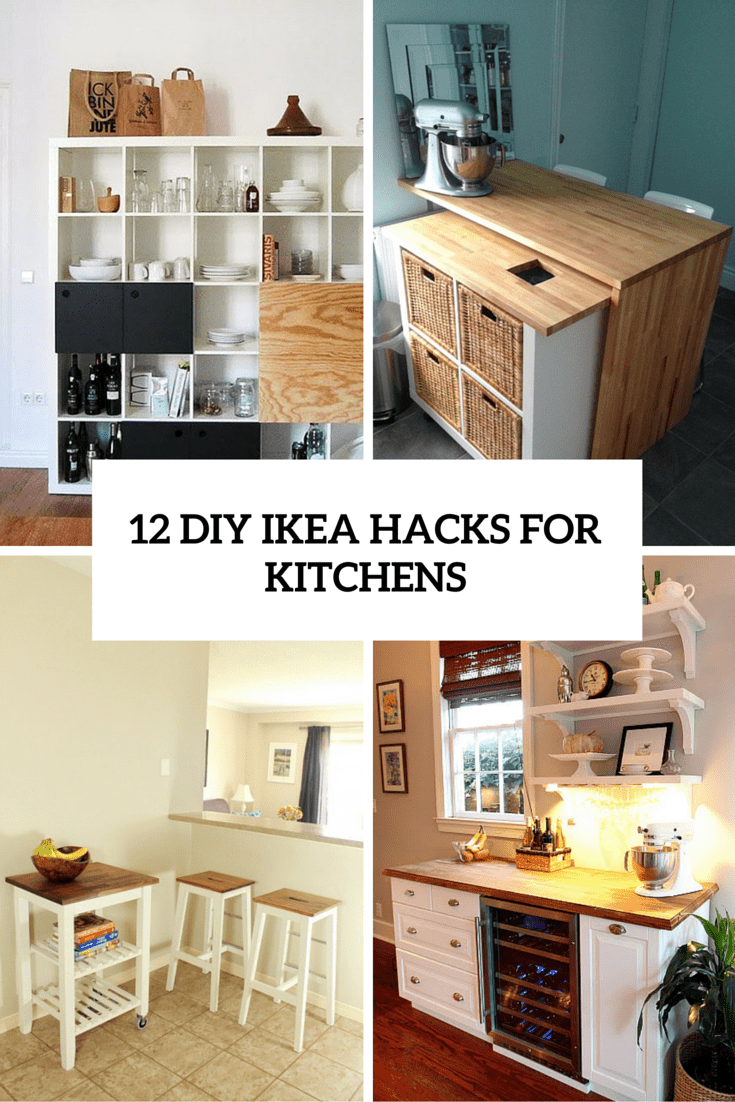 12 functional and smart diy ikea hacks for kitchens for Diy cooking