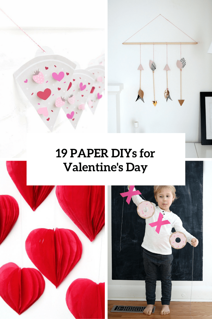19 Easy DIY Paper Decorations For Valentine's Day