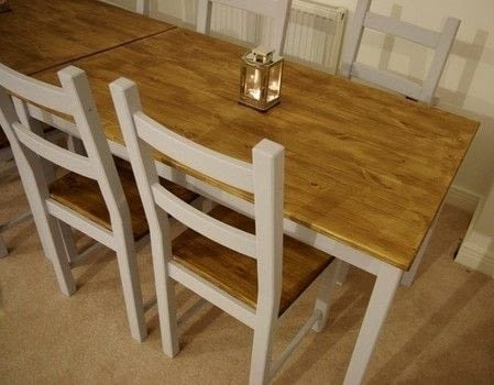 DIY farmhouse table (via cutoutandkeep)