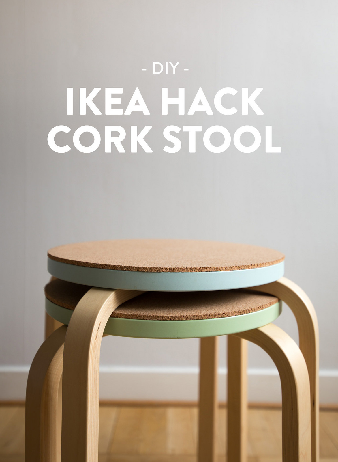 DIY cork stools