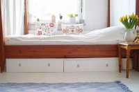 DIY IKEA bed drawers hack