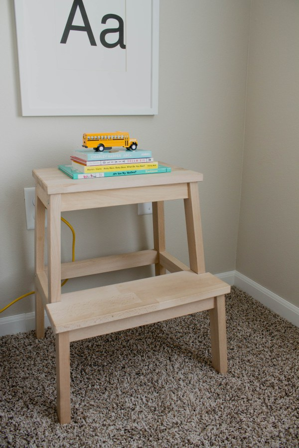 DIY stool to nightstand (via everythingemilyblog)
