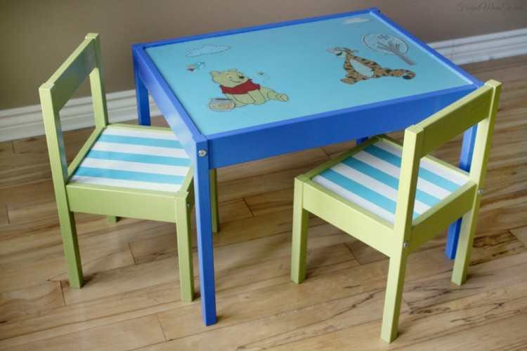 DIY Disney character table makeover (via frugalmomeh)