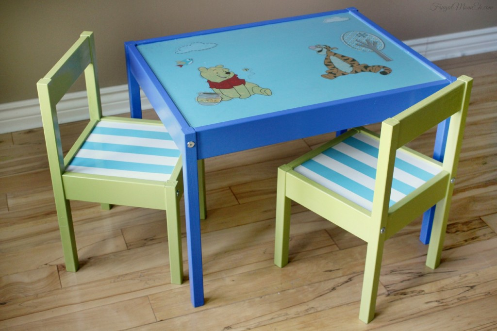 DIY Disney character table makeover