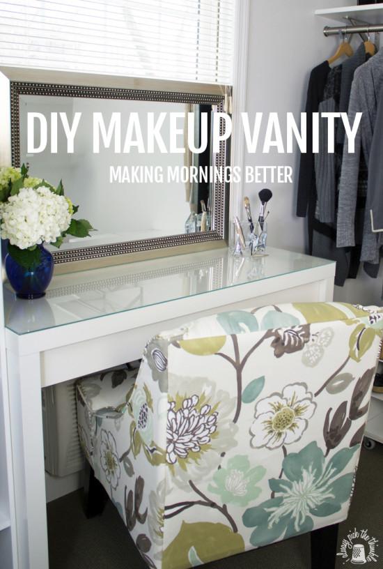 DIY 'Good Morning' makeup vanity  (via ikeahackers)