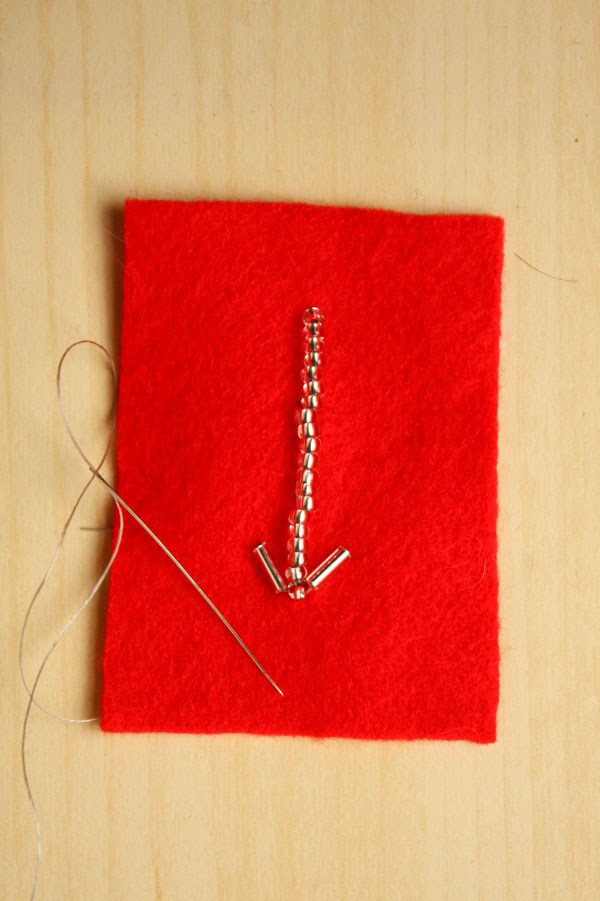 Bead Embroidery Arrow DIY Valentines Day CardShelterness