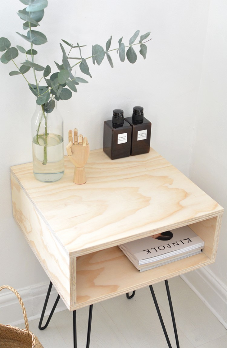 chic diy mid century modern nightstand shelterness