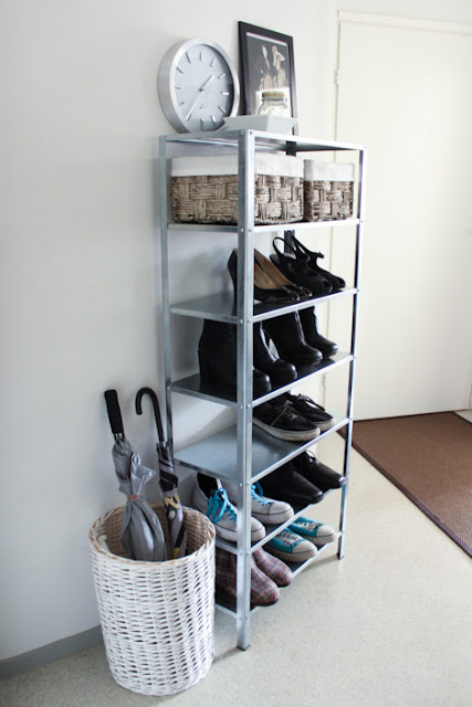 DIY shoe storage (via ikeahackers)