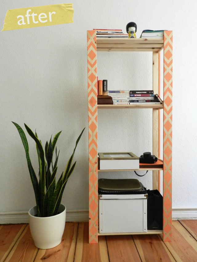 DIY shelf hack (via kaamhandmade)