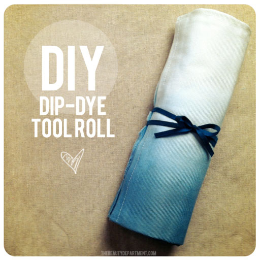 dip dye brush roll (via thebeautydepartment)