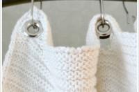 DIY blanket to shower curtain hack