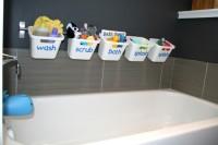 DIY bath toy storage