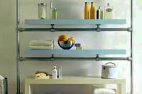 DIY floating bathroom shelf