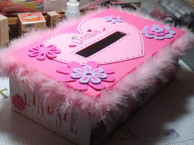 diy valentine mailbox via susiestampalot - Valentine Mailboxes