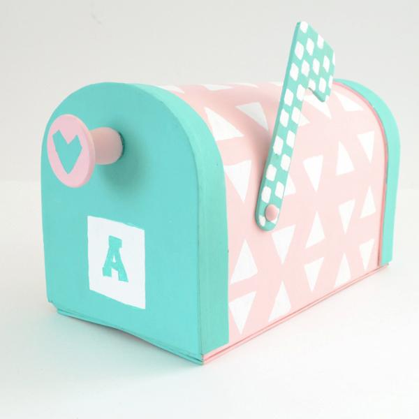 DIY pastel Valentine mailbox